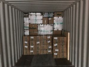 Boxes loaded for transport - Bolliger International Removals and Storage