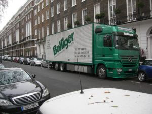 Picture of removal truck, Bolliger international movers London